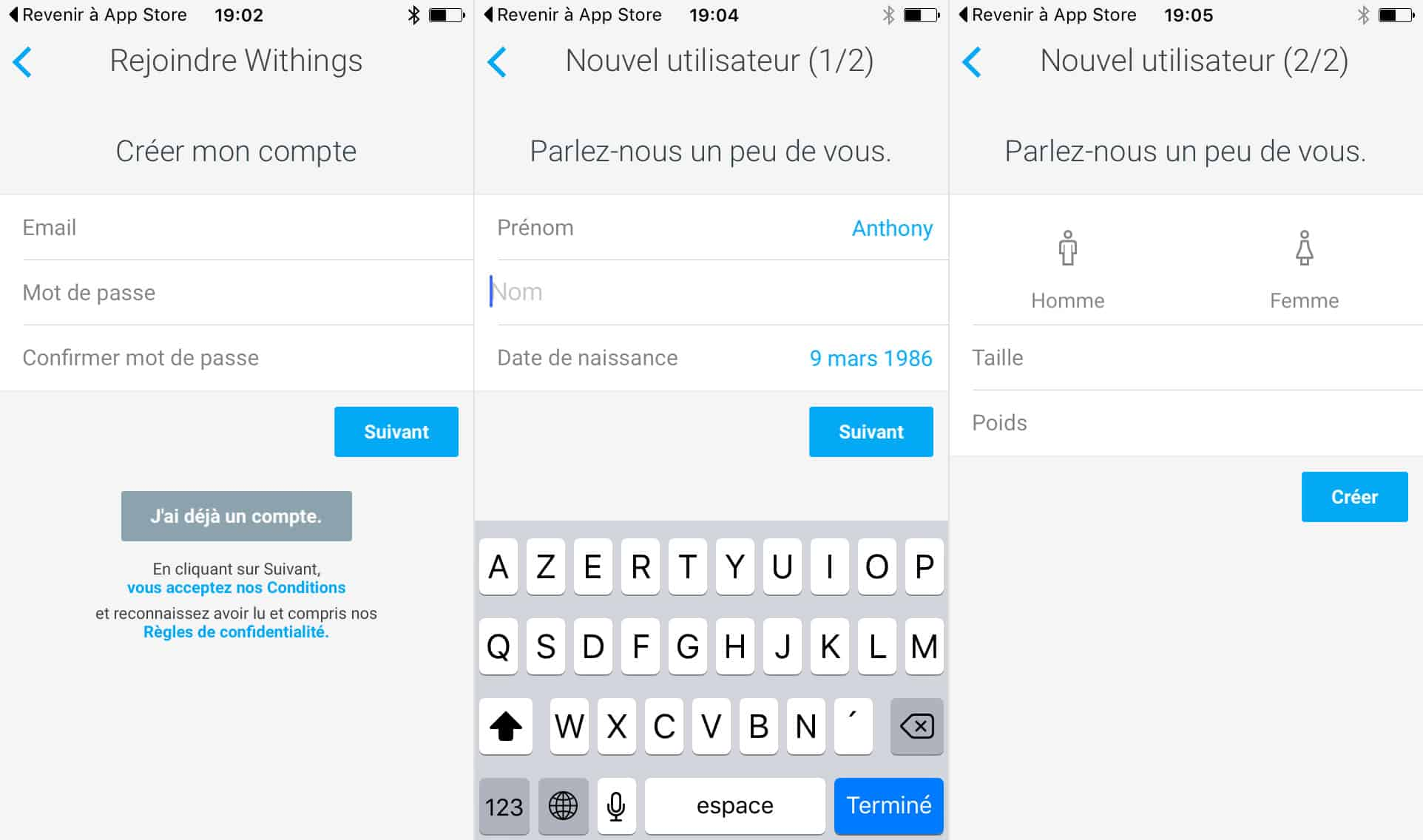 installation Withings Activité Pop