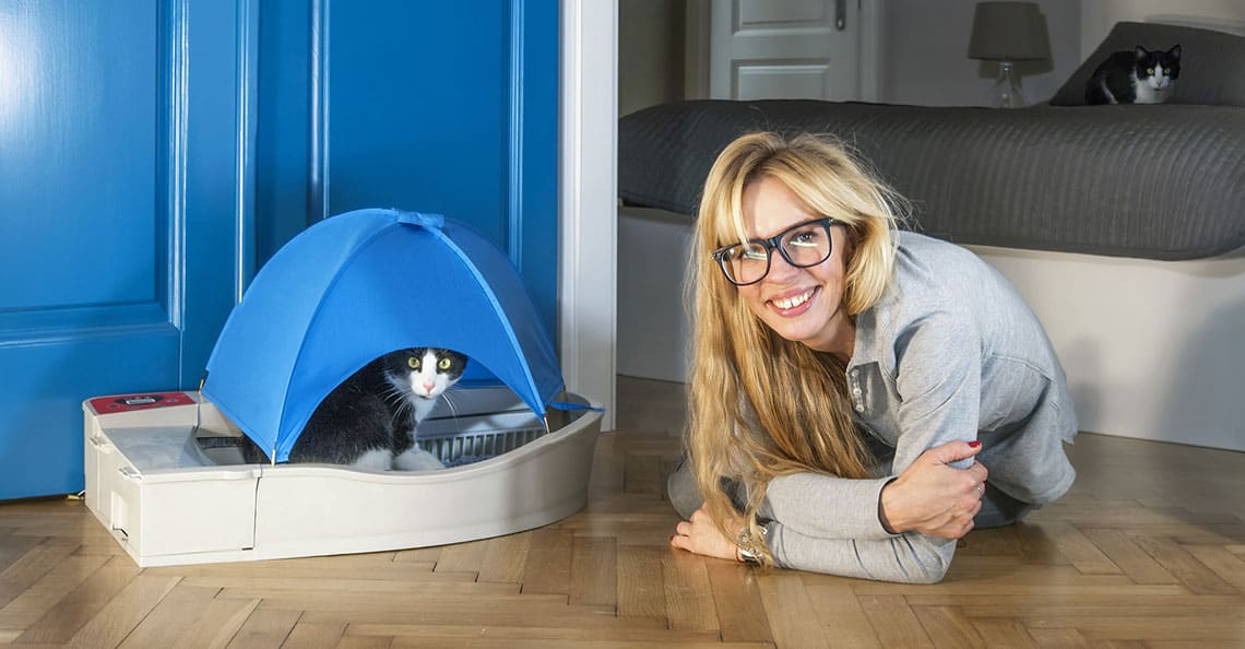 Smart Kitty, la litière connectée qui s'auto-nettoie