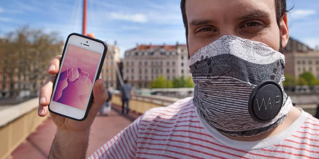 Wair, le cache-nez connecté anti-pollution