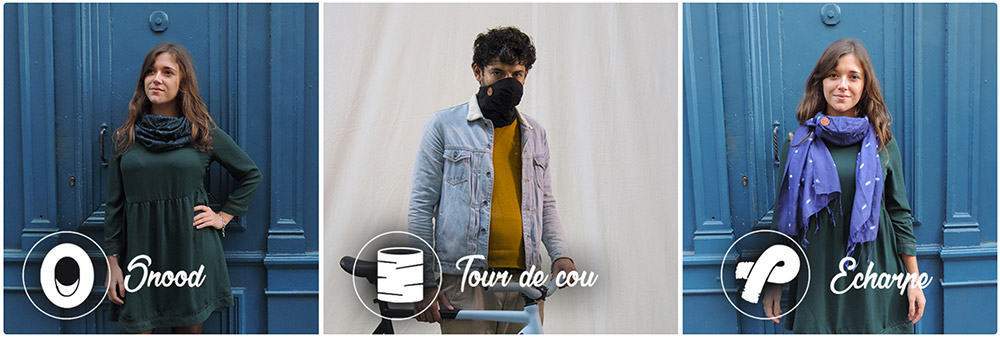 3 modèles de foulards connectés anti-pollution