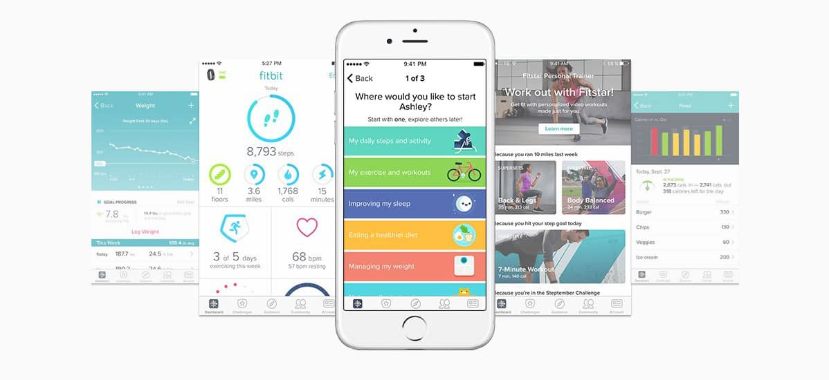 Application mobile Fitbit