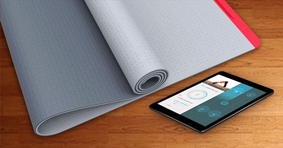 SmartMat,  un tapis de Yoga connecté, coach personnel