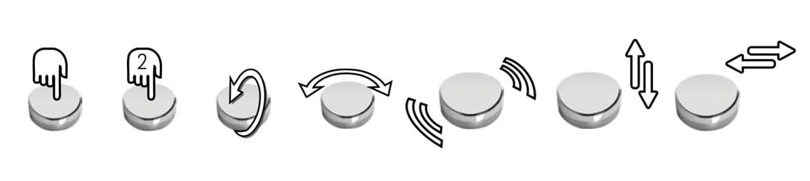 Commandes gestuelles SmartPEBBLE
