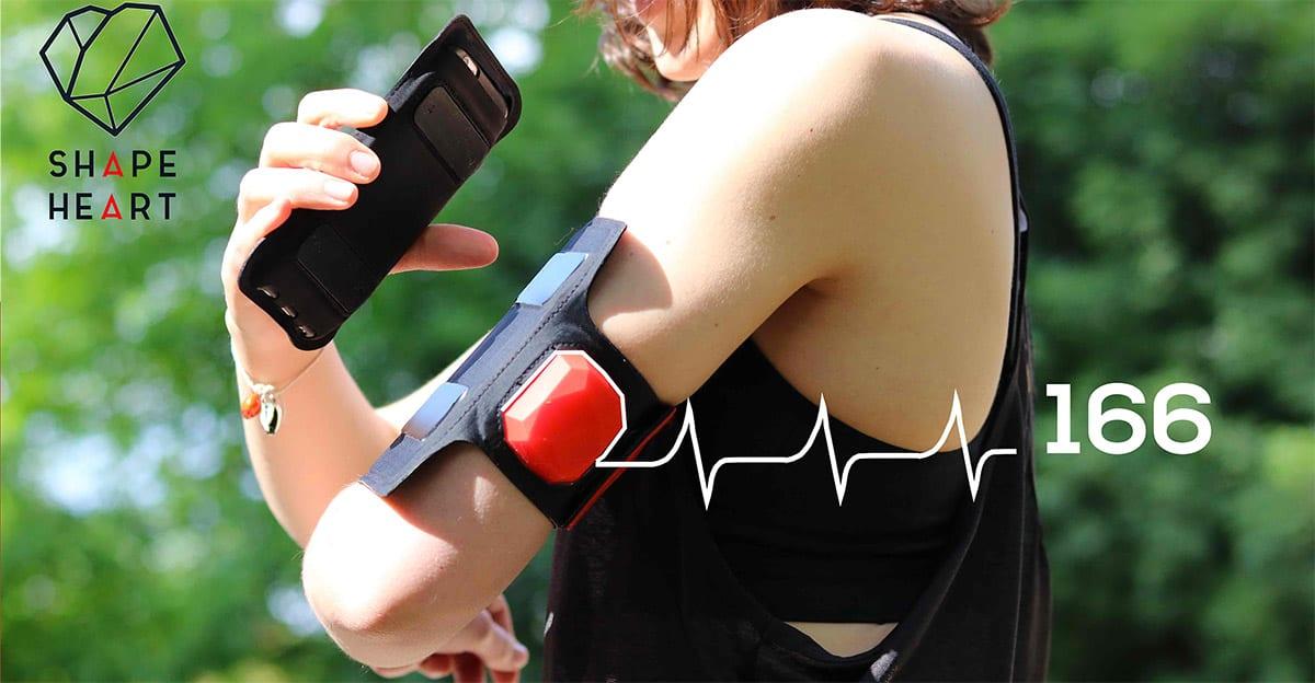 Shapeheart, le brassard connecté équipé d'un capteur de fréquence cardiaque
