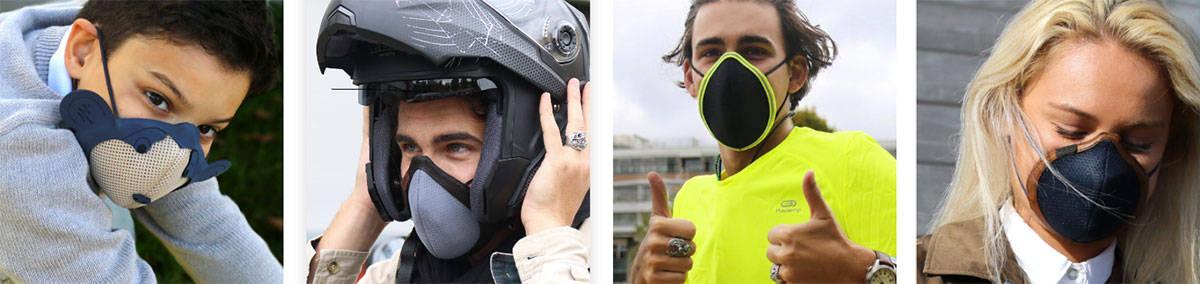 Les modèles de Mask, le masque anti-pollution