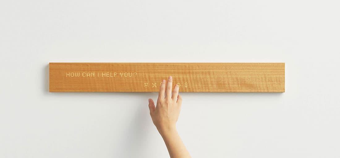 Mui : Le bois au coeur de cet écran tactile connecté