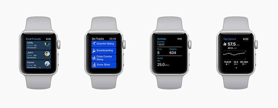 Apple Watch Serie 3 Intègre les activités Ski/Snowboard