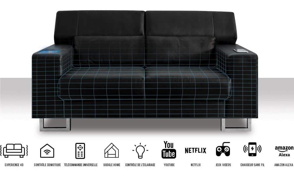 La canapé connecté conçu par Miliboo