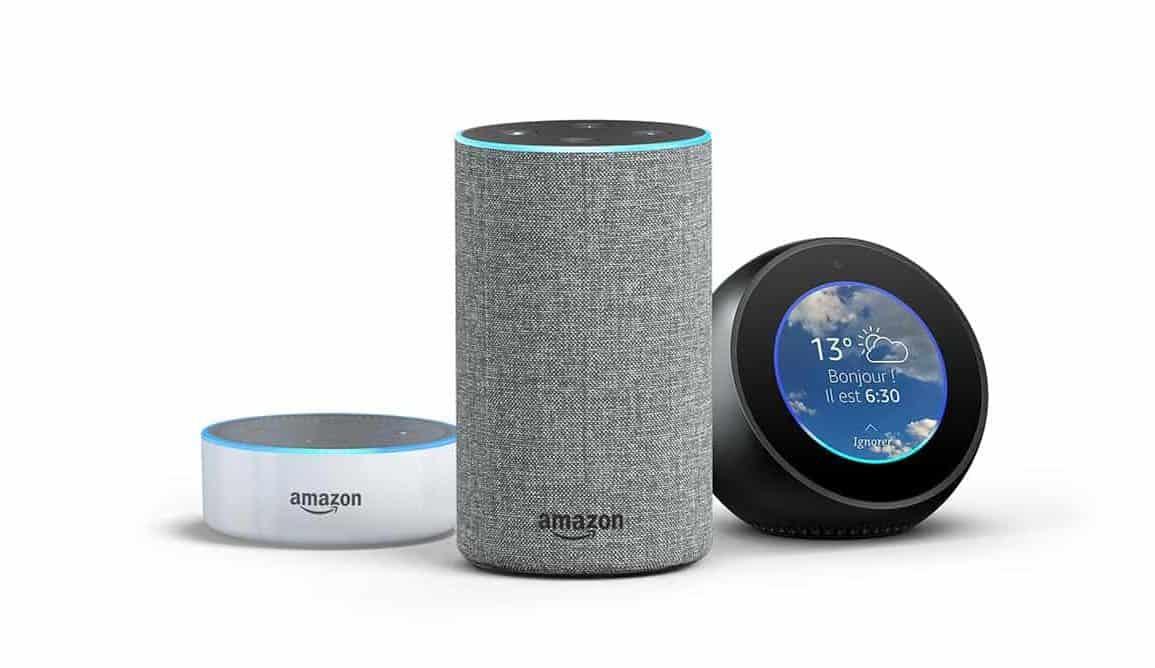 La gamme d'enceintes connectées Echo d'Amazon débarquent en France