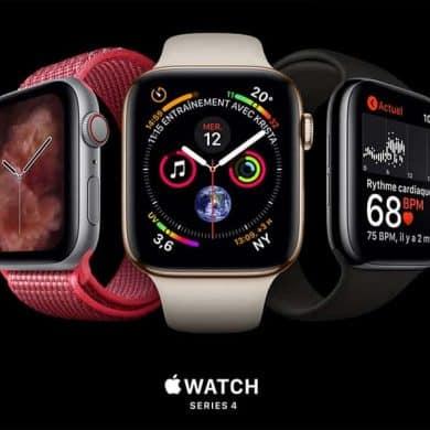 Sortie de l'Apple Watch Series 4