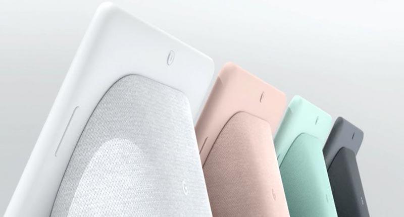 4 couleurs au choix pour le Google Home Hub