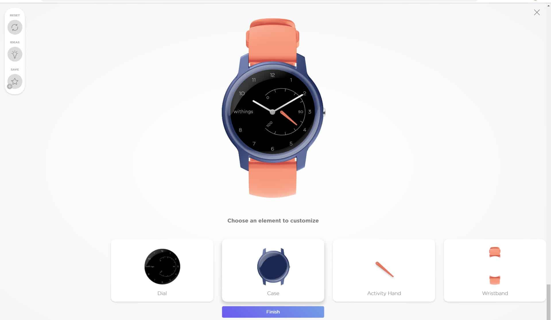 Personnalisation de la montre connectée Withings Move