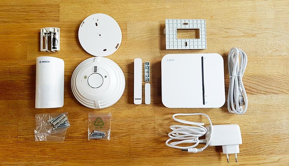 Contenu du kit de démarrage sécurité Bosch Smart Home