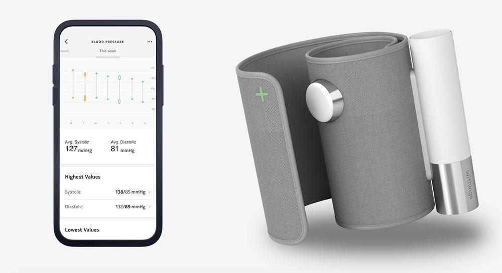 Le tensiomètre connecté BPM Core de Withings