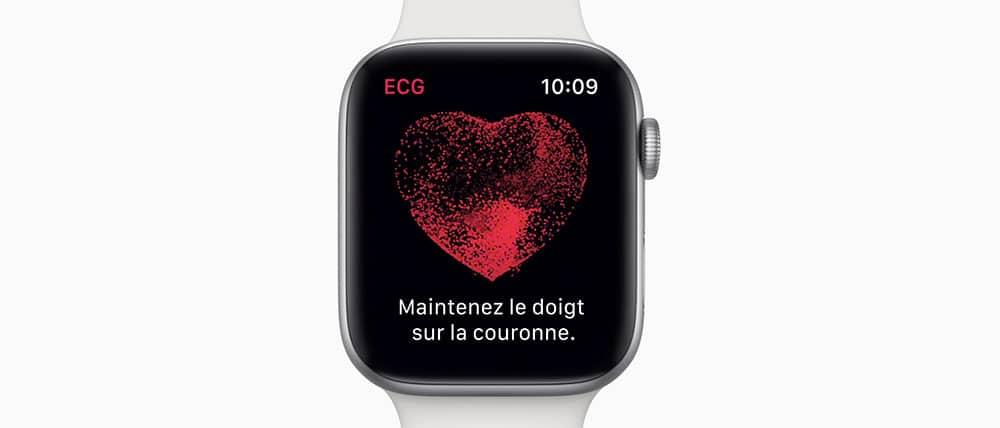 Effectuez un electrocardiogramme instantanément avec l'Apple Watch Series 4