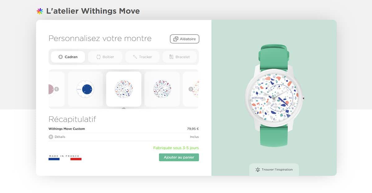 Personnalisez votre montre connectée Move avec l'atelier Withings
