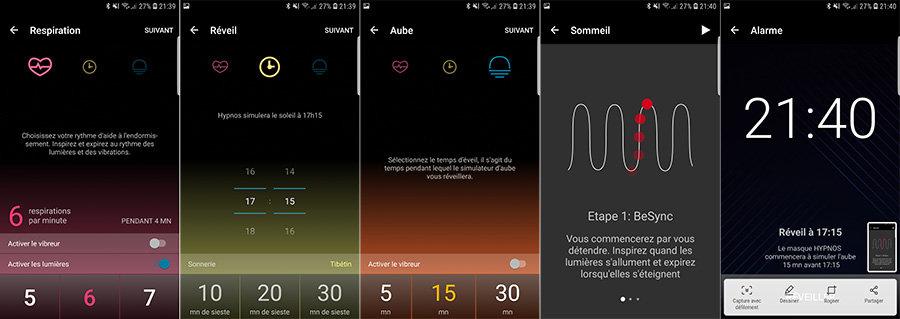 Le mode sommeil de l'application Hypnos