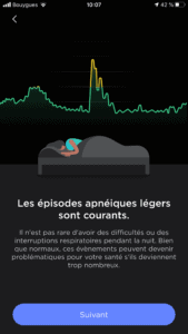 L'apnée peut être courante - Withings Sleep Analyzer