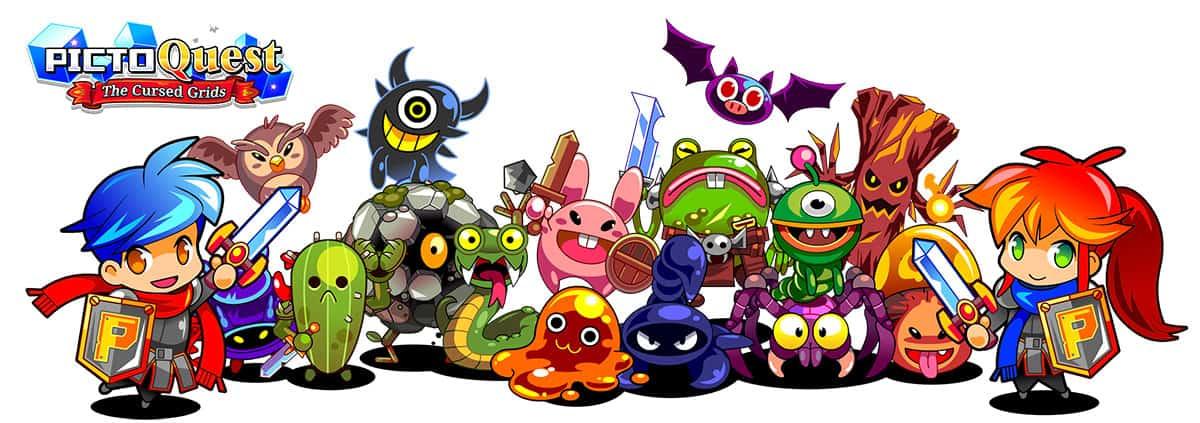 Les personnages de PictoQuest