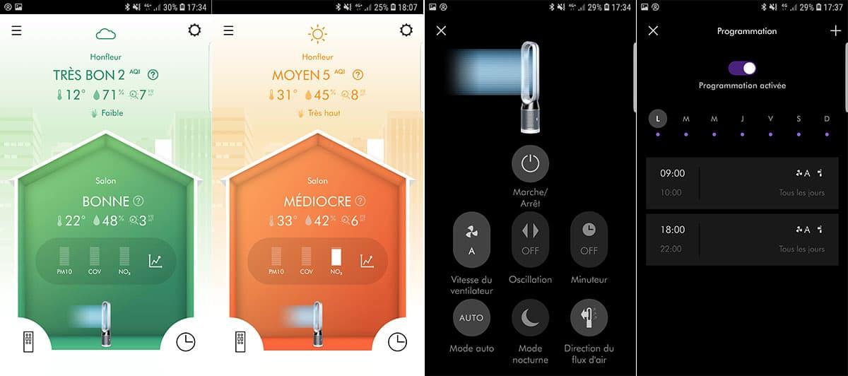 L'application mobile Dyson