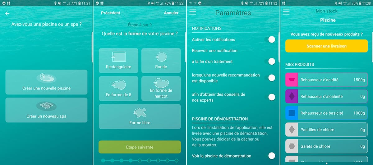 L'application mobile Iopool