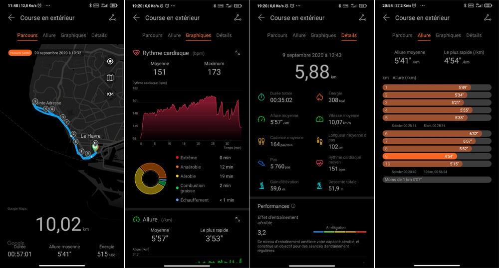 L'application mobile Huawei Health de la MagicWatch 2