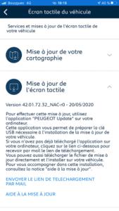 My Peugeot - Maj