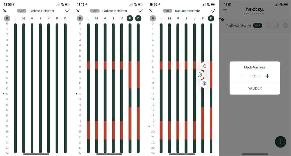 Programmation de Heatzy au sein de l'application mobile