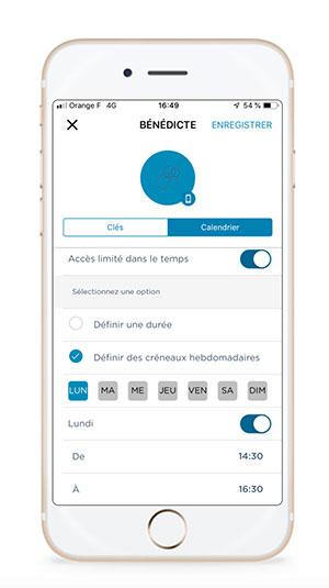 Application mobile Somfy Keys